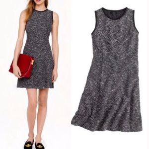 J. Crew knit tweed sleeveless fit & flare dress